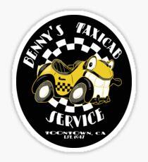 Benny's Taxicab Service Sticker