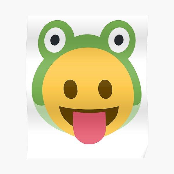 Disfraz de rana de lengua emoji para bebé Póster