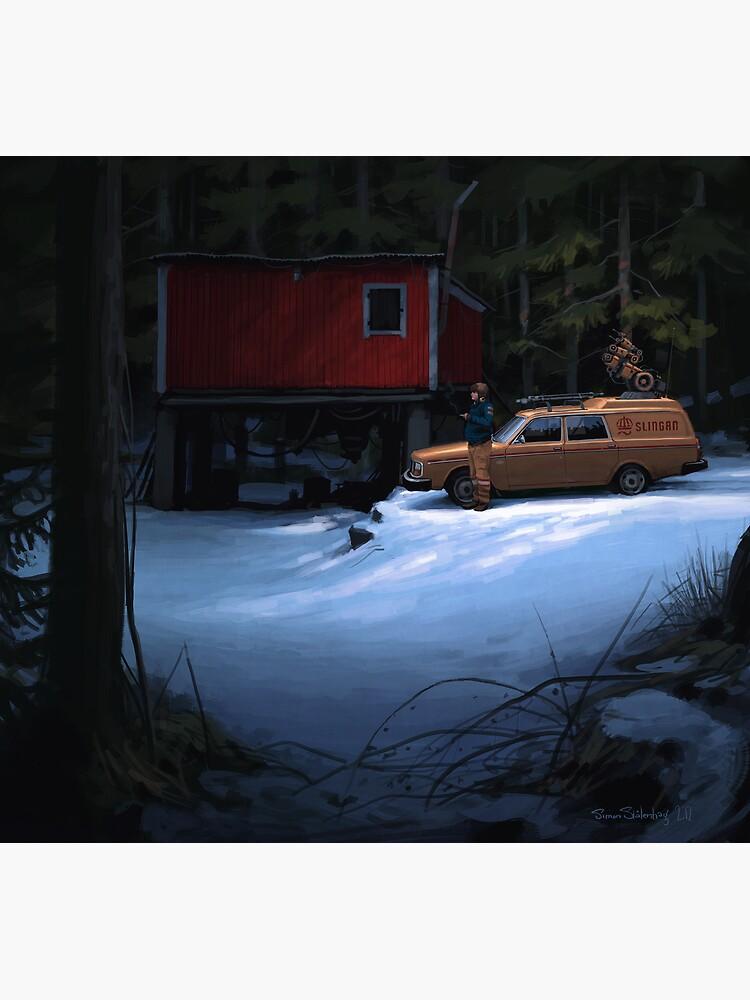 Skogverkstaden by simonstalenhag