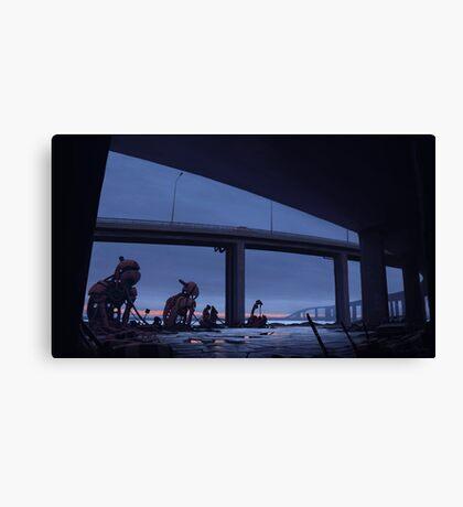 Bilfärd över Björksättersfjärden Canvas Print