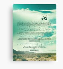 Ride - Monologue Canvas Print