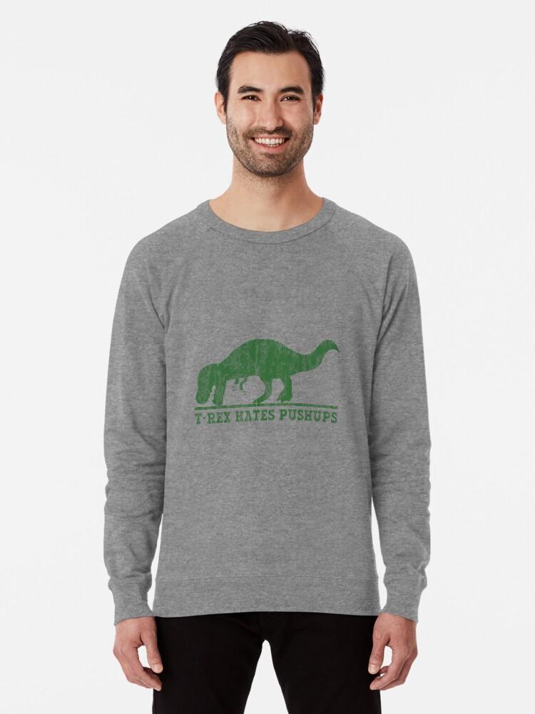 ea27ed52 T-Rex Hates Pushup T-Shirt