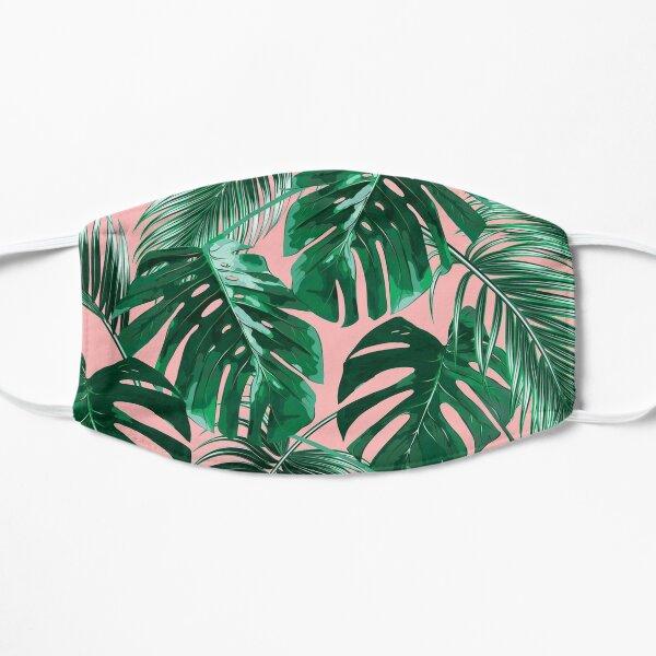 pink palm leaves mask Mask