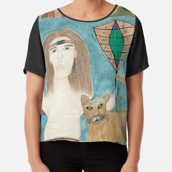 The Cougar Warrior Within Chiffon Top