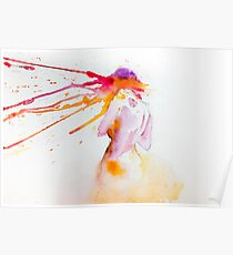 Girl in color water Poster