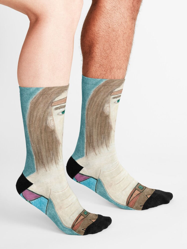 Alternate view of The Cougar Warrior Within Socks
