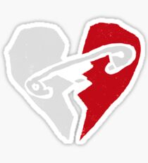 5SOS Logo Red & White Sticker