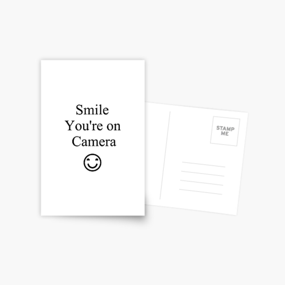 Smile You're on Camera Sign Postcard