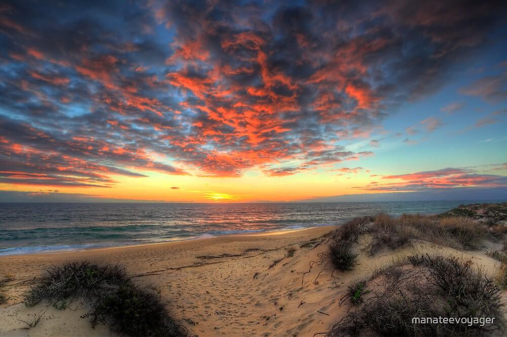Beachcombers Sunset by manateevoyager