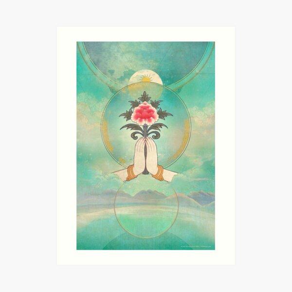 Divine Offering (Anjali Mudra) Art Print