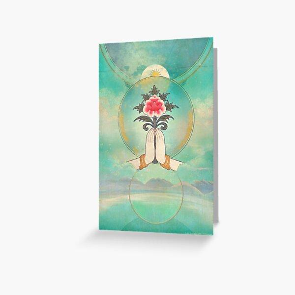 Divine Offering (Anjali Mudra) Greeting Card