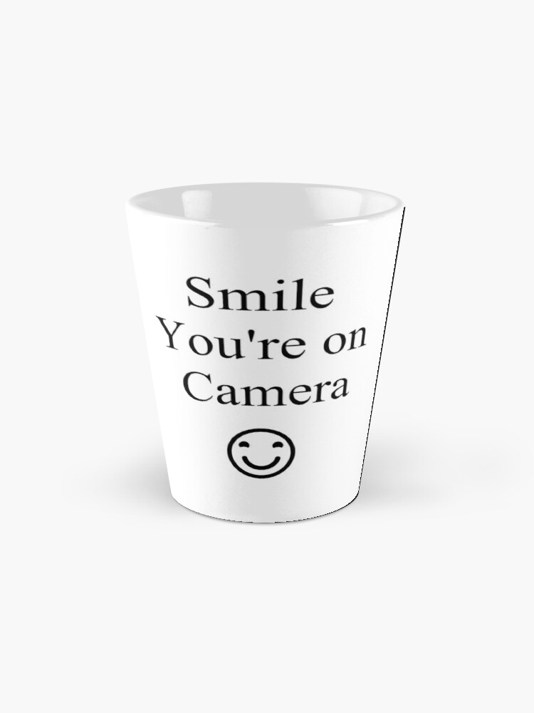 Alternate view of Smile You're on Camera Sign Mug