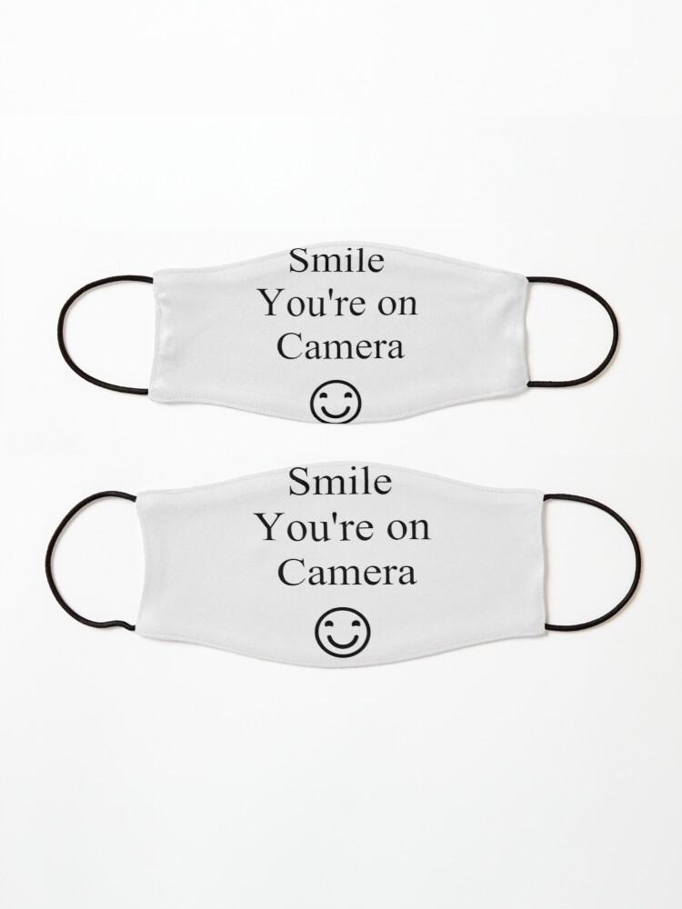 Alternate view of Smile You're on Camera Sign Mask