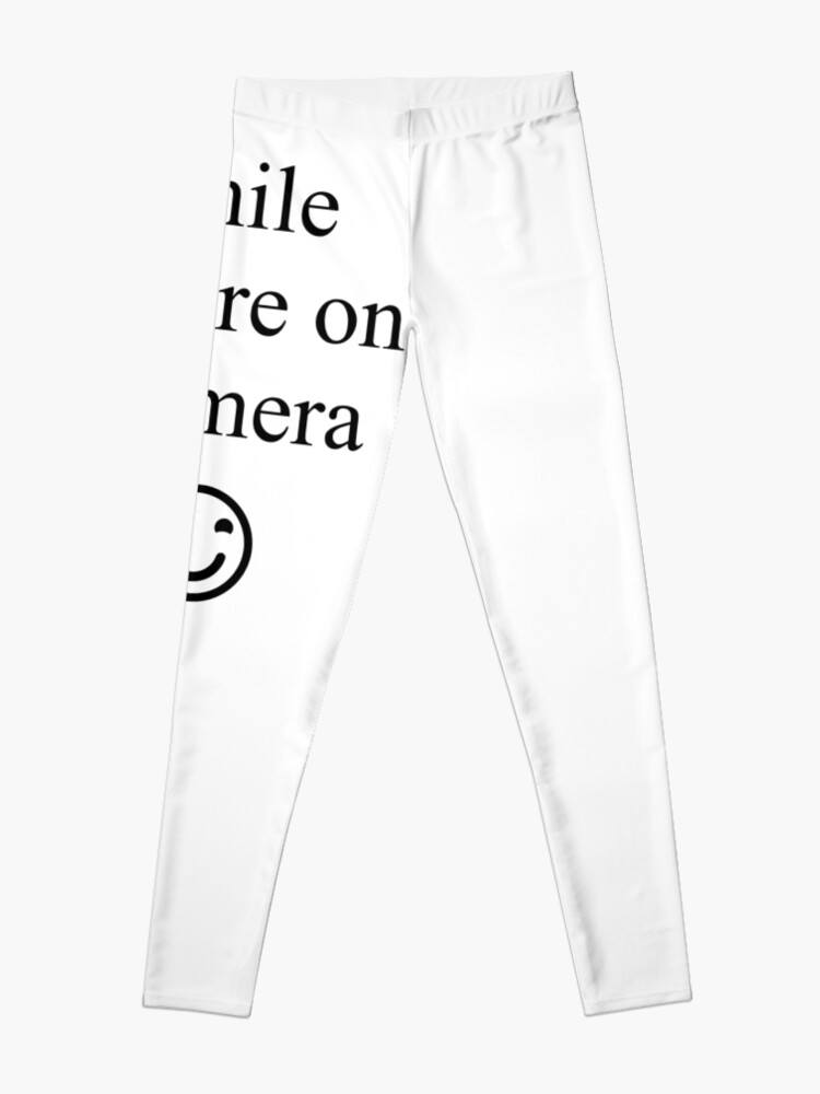 Alternate view of Smile You're on Camera Sign Leggings