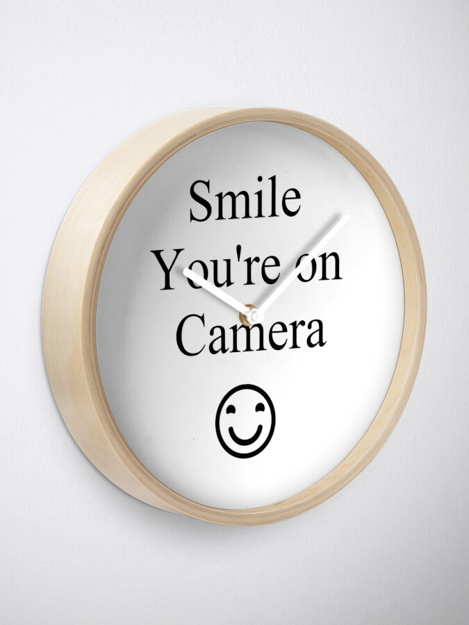 Alternate view of Smile You're on Camera Sign Clock