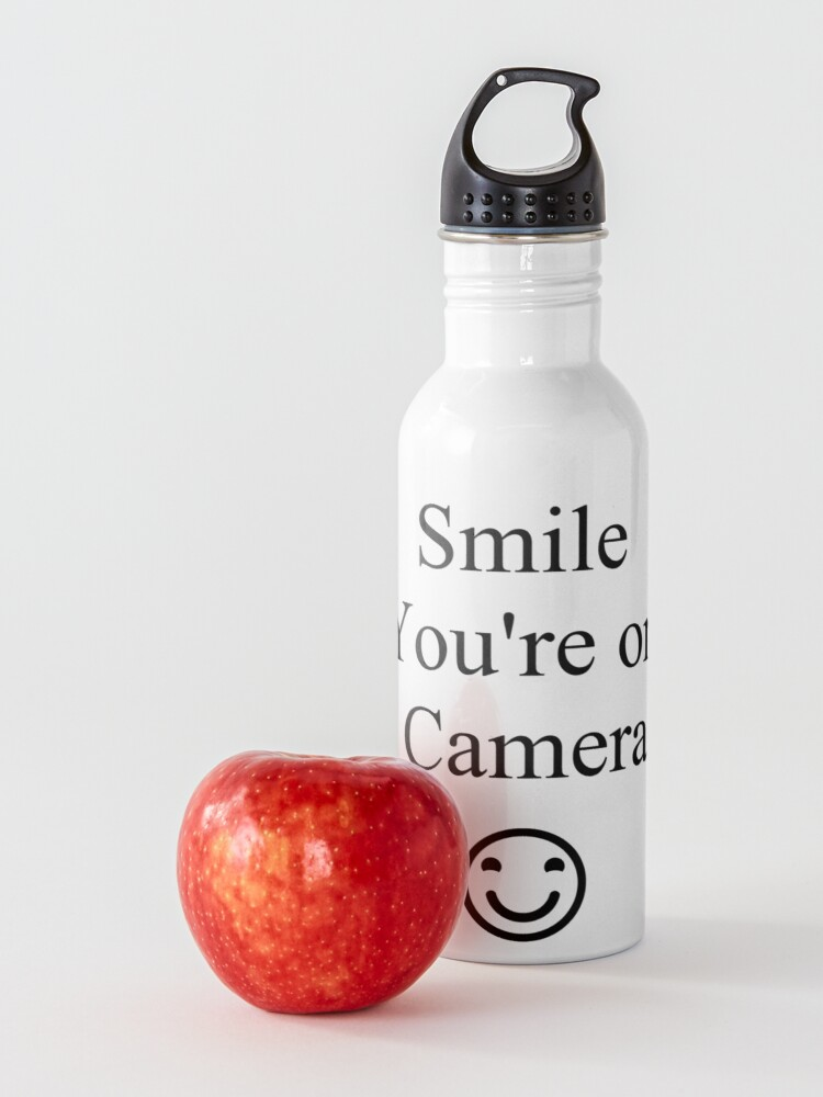 Alternate view of Smile You're on Camera Sign Water Bottle