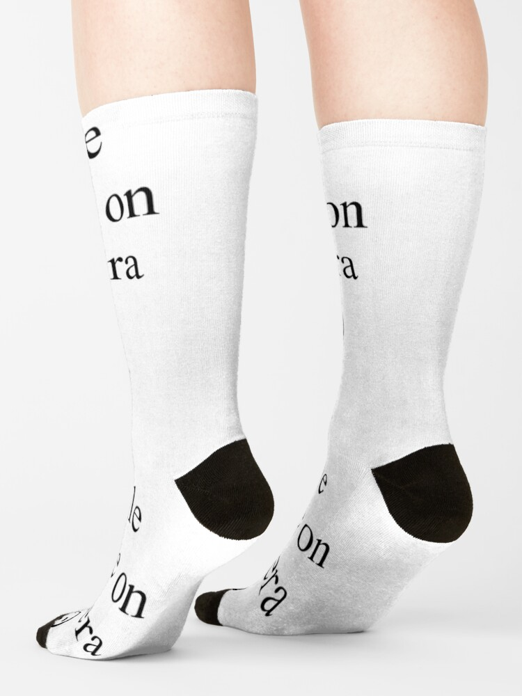 Alternate view of Smile You're on Camera Sign Socks