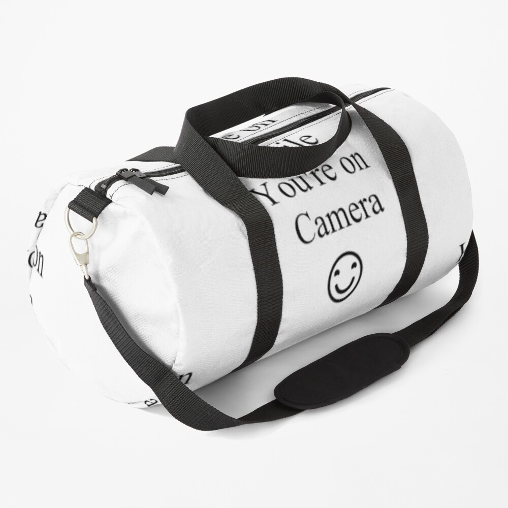 Smile You're on Camera Sign Duffle Bag