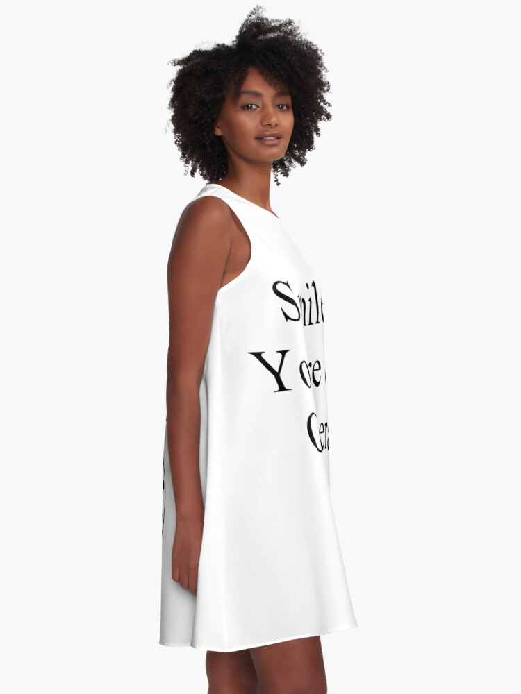 Alternate view of Smile You're on Camera Sign A-Line Dress