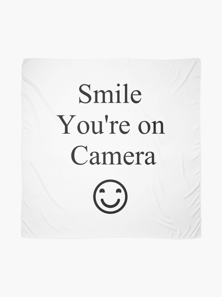 Alternate view of Smile You're on Camera Sign Scarf