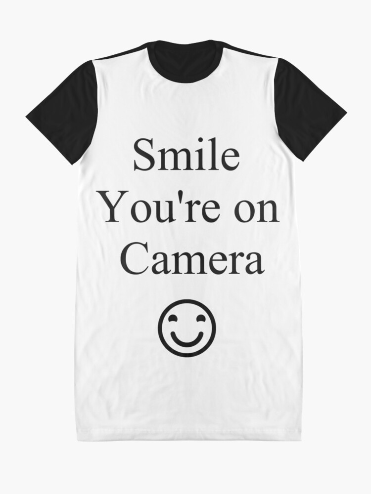 Alternate view of Smile You're on Camera Sign Graphic T-Shirt Dress