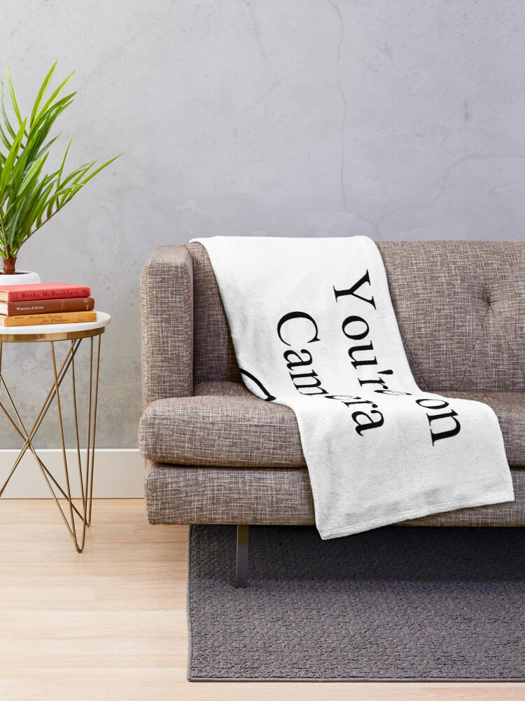 Alternate view of Smile You're on Camera Sign Throw Blanket