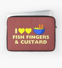 I love fish fingers and custard Laptop Sleeve