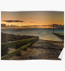 Morcombe Bay Sunset Poster