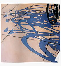 The Gathering - bicycle art oil painting Poster