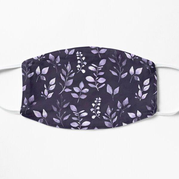 Dainty Leaves Purple Pattern Flat Mask