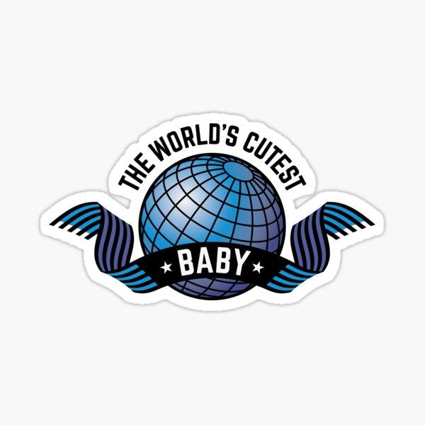Das süßeste Baby der Welt (Junge / Blau) Sticker