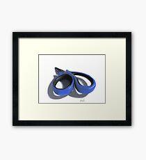 Painted scissors Framed Print