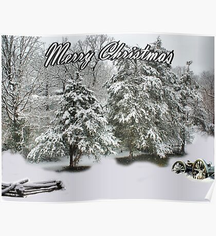 A Snow Covered Christmas Poster