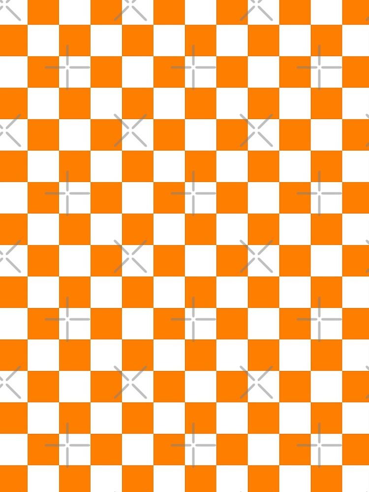 Orange and White Checkerboard  by Dixiedeadhead