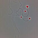 Blowing kisses by Leda D