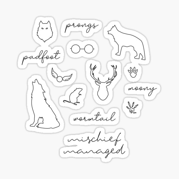 The Marauders Set Sticker