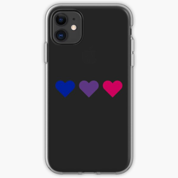 Bi Flag Hearts iPhone Soft Case