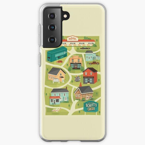 Schitt's Creek Town Map Samsung Galaxy Soft Case