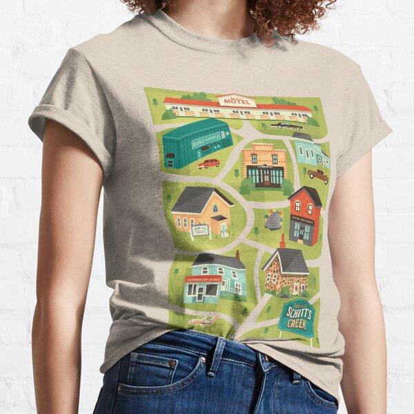 Mapa de la ciudad de Schitt's Creek Camiseta clásica