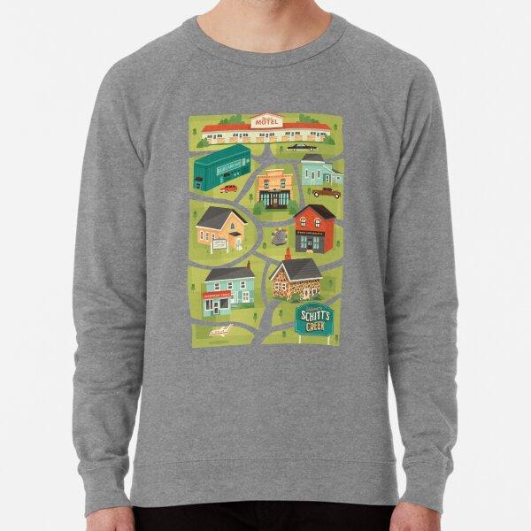Schitt's Creek Town Map Lightweight Sweatshirt