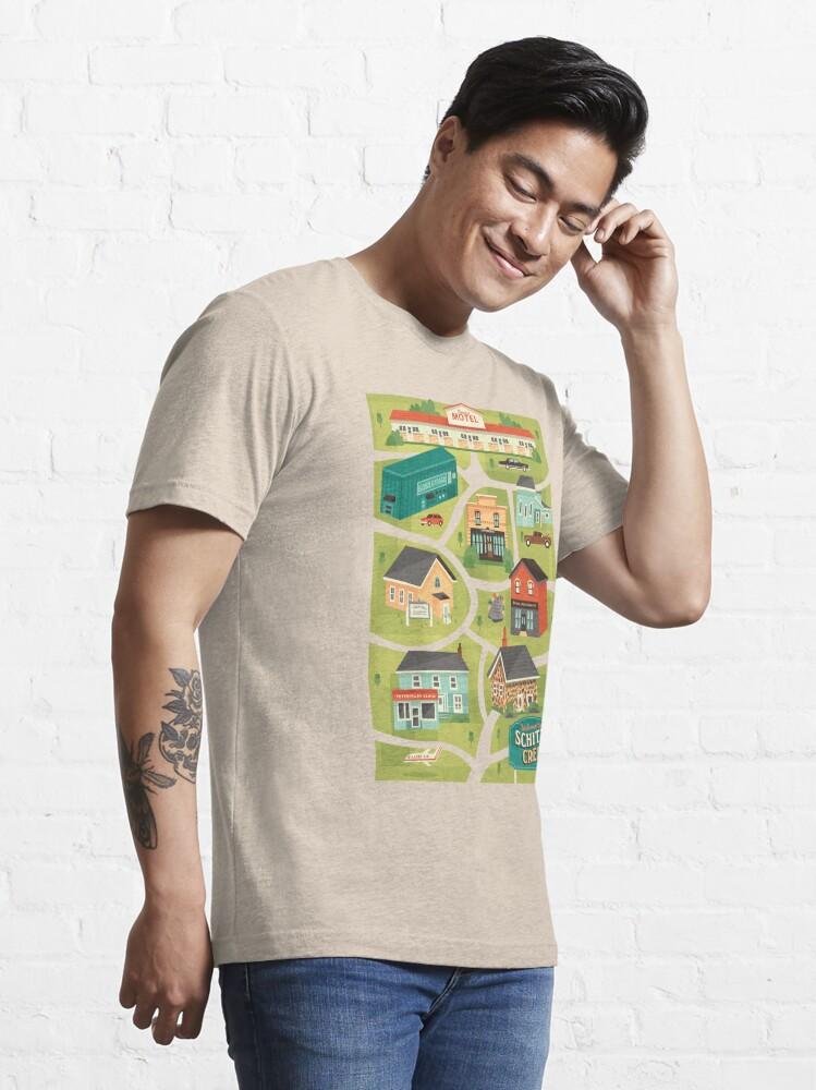 Alternate view of Schitt's Creek Town Map Essential T-Shirt