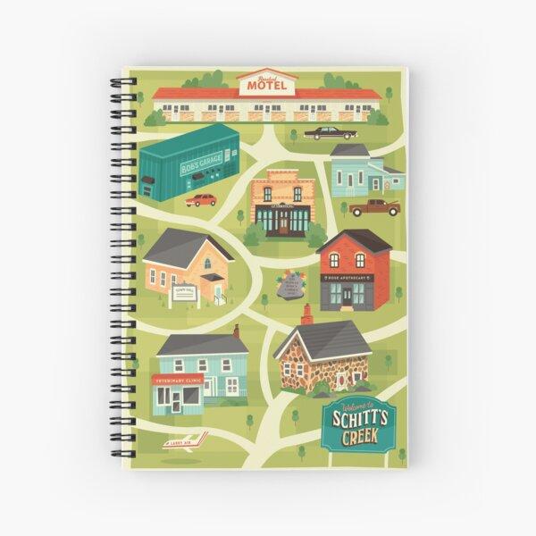 Schitt's Creek Town Map Spiral Notebook