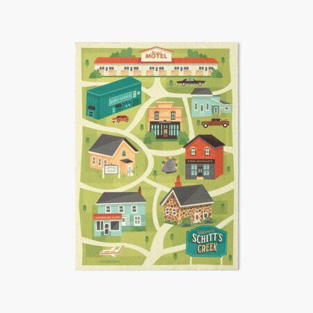 Schitt's Creek Town Map Art Board Print