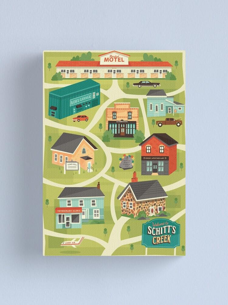 Alternate view of Schitt's Creek Town Map Canvas Print