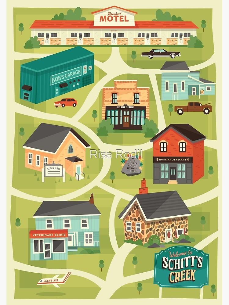 Schitt's Creek Town Map by risarodil