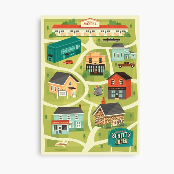 Schitt's Creek Town Map Canvas Print