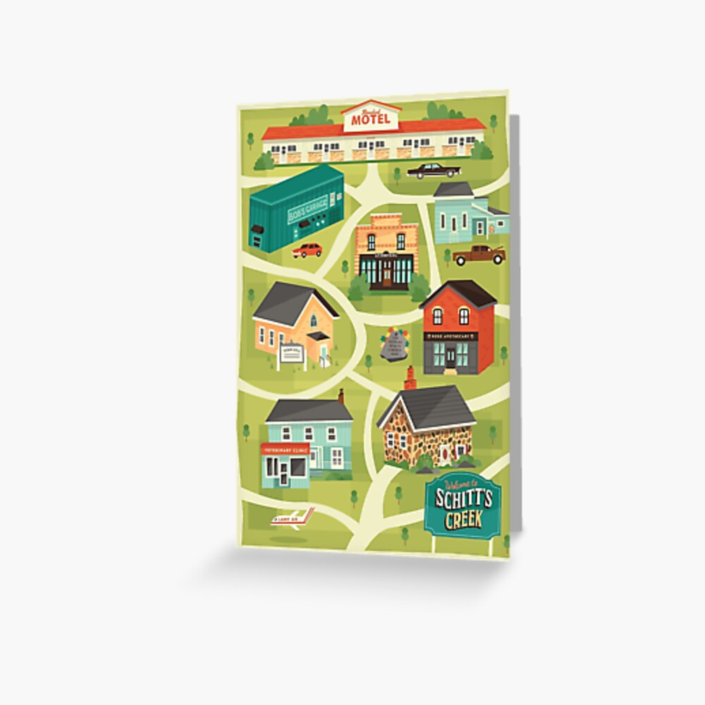 Schitt's Creek Town Map Greeting Card
