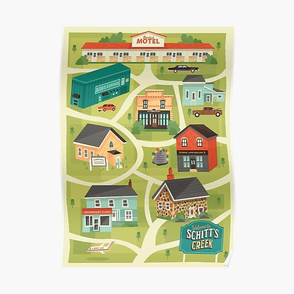 Schitt's Creek Town Map Poster