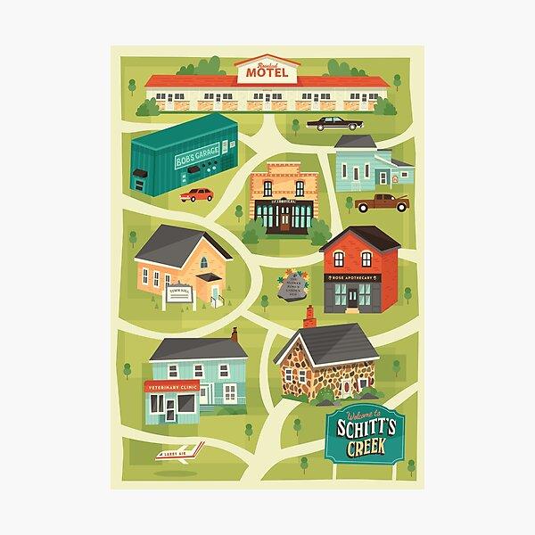 Schitt's Creek Town Map Photographic Print