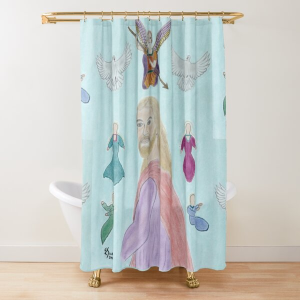 A Portrait of Jesus Shower Curtain
